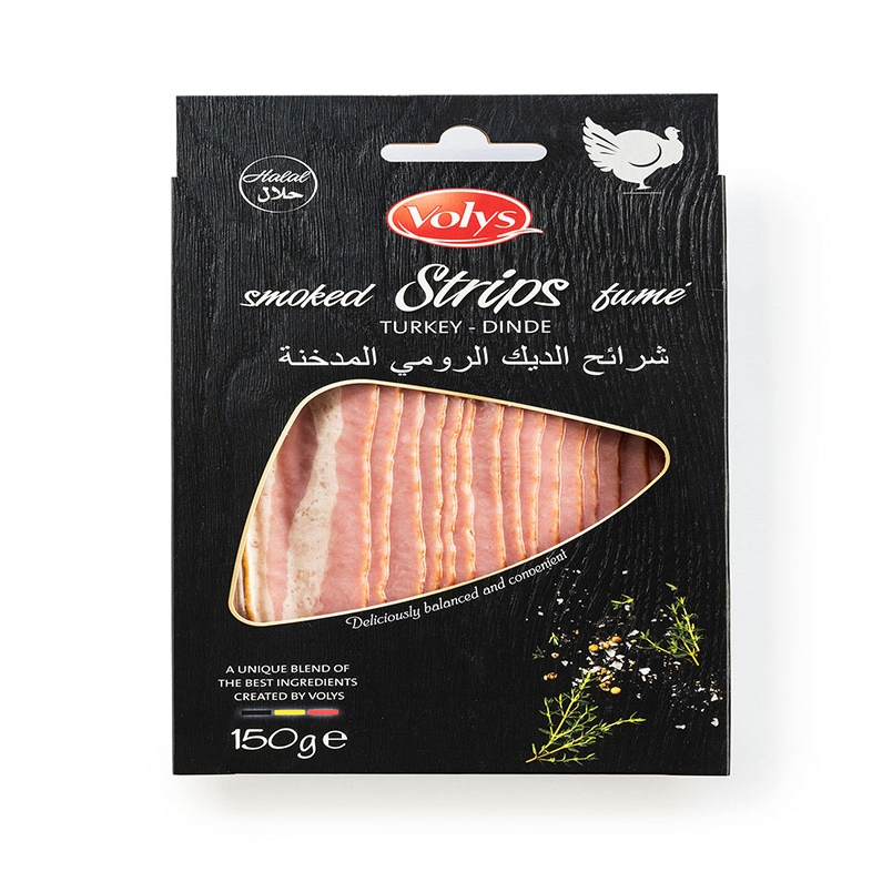 Sliced Smoked Turkey Strips 12295